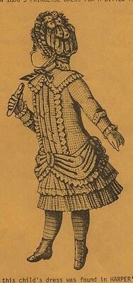 "25""ANTIQUE FRENCH JUMEAU-GERMAN CHILD DOLL@1884 LOW WAIST PRINCESS DRESS PATTERN"