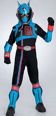Captain Power Kostüme (Power Rangers SPD Deluxe Shadow Police Captain Child Costume Size 4-6 Small New )