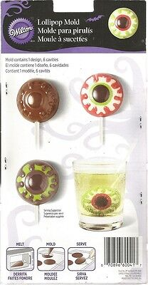 Wilton Eyeball Lollipop Chocolate Candy Mold Halloween Party Favors  B25 - Eyeball Candy