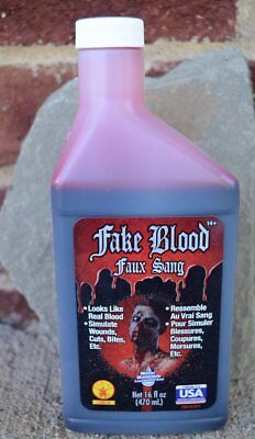 Bottle of Fake Blood Pint Theatrical Stage Costume Halloween - Fake Blood Halloween Costume