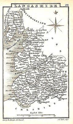 Antique map, Lancashire ..