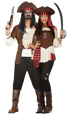 COPPIA Ladies & Mens SEVEN SEAS pirata in abbinato COSTUME COSTUMI, OUTFIT