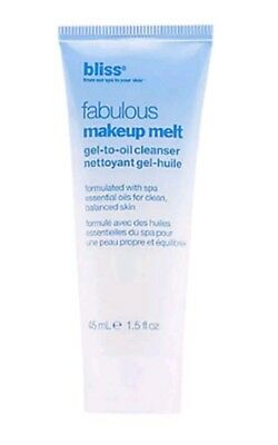 Essential Oils Gel Cleanser - Bliss Fabulous Makeup Remover Melt Gel To Oil Cleanser With Essential Oils 45ml