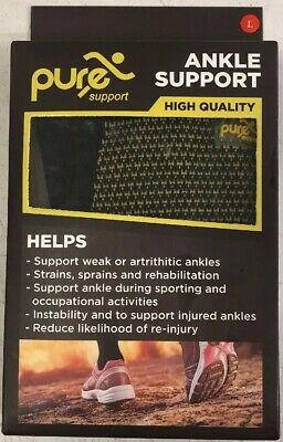 PURE SUPPORT Ankle Brace Sleeves with Best Compression Size Large.