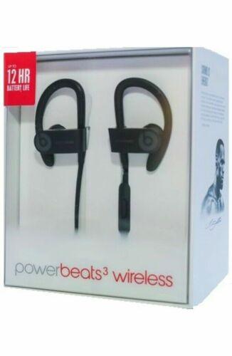 New OEM Beats by Dr Dre Powerbeats3 Wireless Headphones Black
