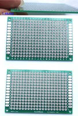 50pcs Double Side Pcb 4cm X 6cm Printed Circuit Board Blank Protoboard Soldering