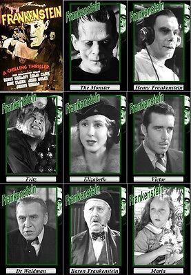 Frankenstein movie trading cards. 1931 classic Horror Boris Karloff