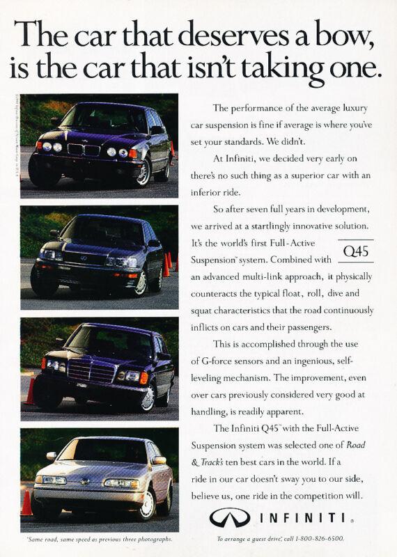 1991 Infiniti Q45 - Deserves - Classic Vintage Advertisement Ad D189