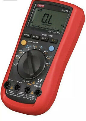 Uni-t Ut61b Modern Digital Multimeter Auto Range Backlight True Rms Temp Test