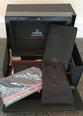 Omega Dark Side Of The Moon Watch Box Set with accessories