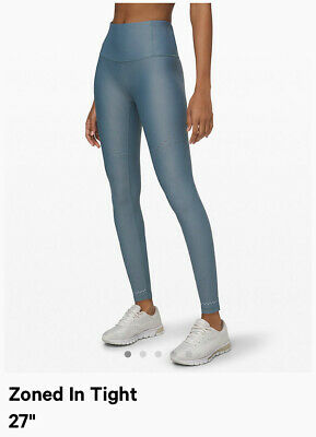 NWT $148 Lululemon Zoned In Tight Blue Sz 4