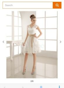 Gorgeous short Wedding dress sz 8