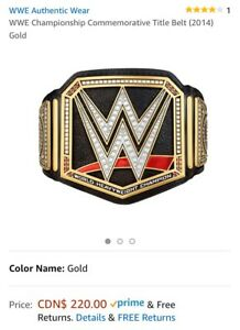 WWE Championship Commemorative Title Belt (2014) Gold