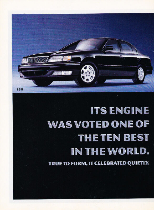 1998 Infiniti I30 - 2 Page Ad - Classic Vintage Advertisement Ad D190
