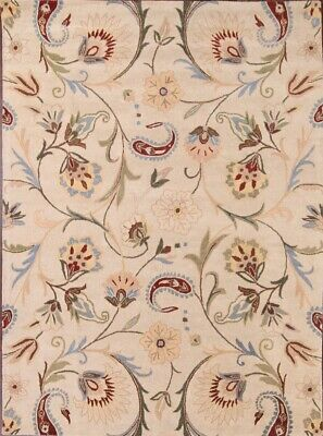 Hand-tufted Classic Floral Ivory Square 10x10 Oushak Oriental Area Rug New - Ivory Square Teppich