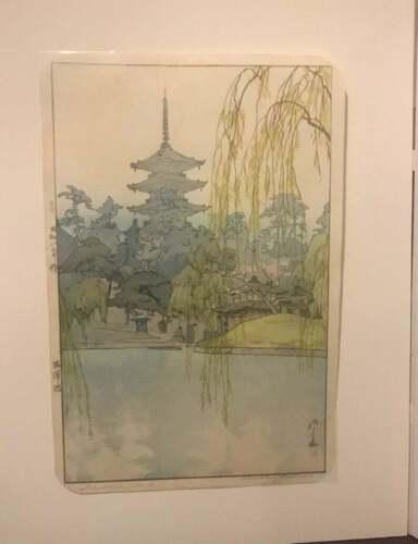 Rare Find Hiroshi Yoshida (1876-1950) Sarusawa Pond with Jizuri Seal 1933