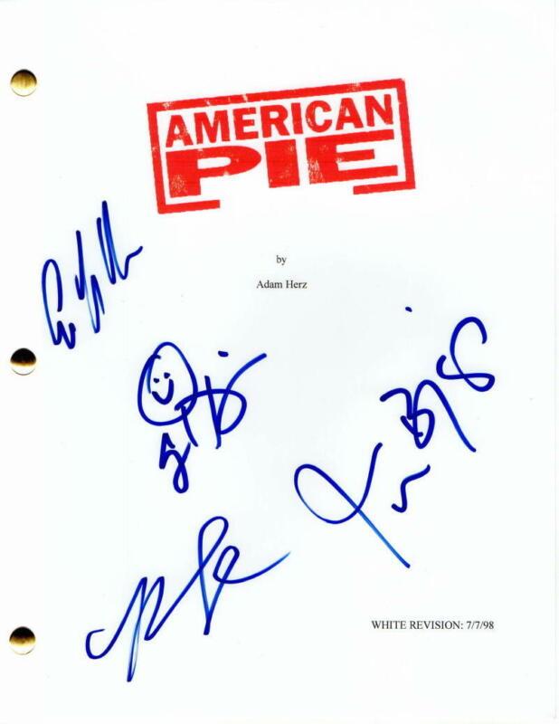 JASON BIGGS, ALYSON HANNIGAN +2 SIGNED AUTOGRAPH - AMERICAN PIE MOVIE SCRIPT