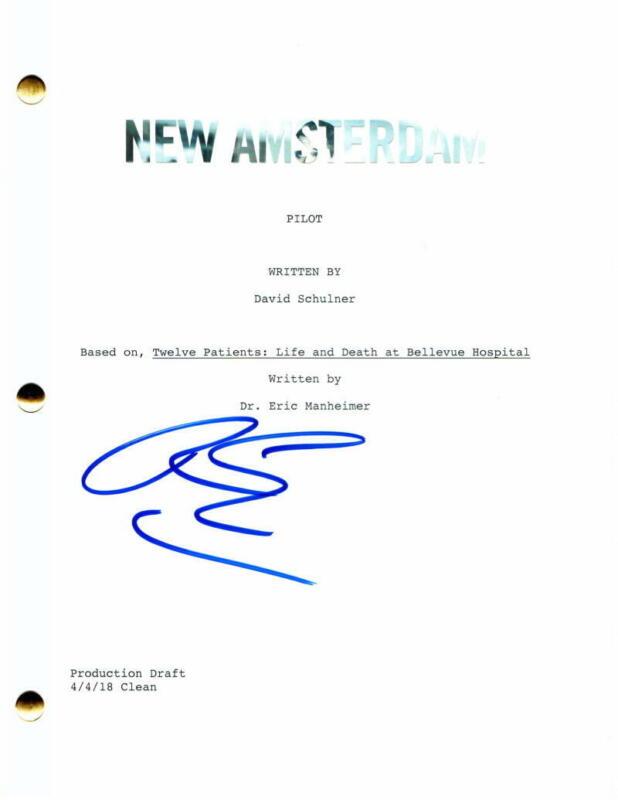 "RYAN EGGOLD SIGNED AUTOGRAPH ""NEW AMSTERDAM"" FULL PILOT SCRIPT - BLACKLIST STUD"