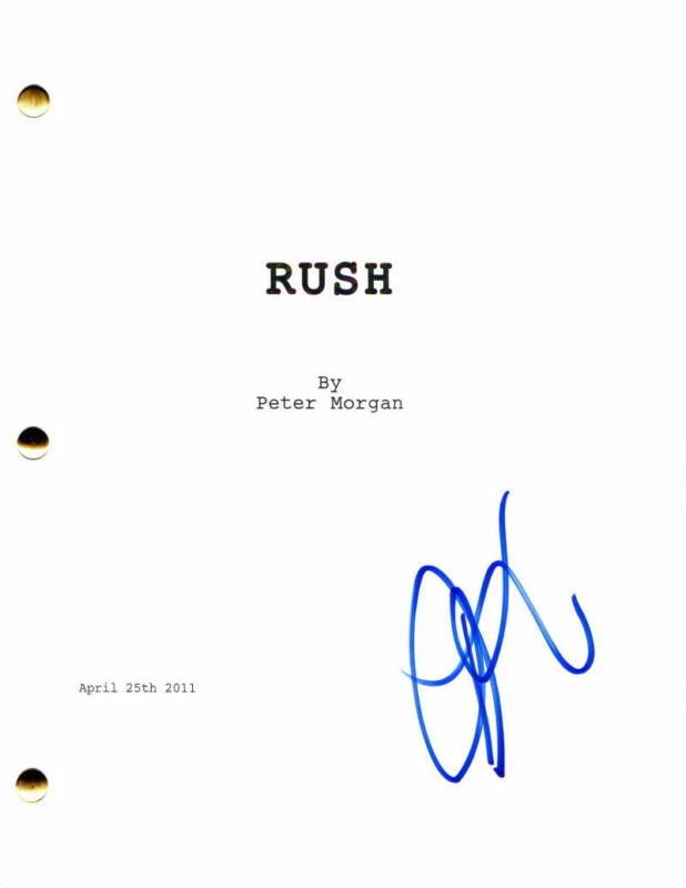 DANIEL BRUHL SIGNED AUTOGRAPH - RUSH MOVIE SCRIPT - CHRIS HEMSWORTH, RON HOWARD