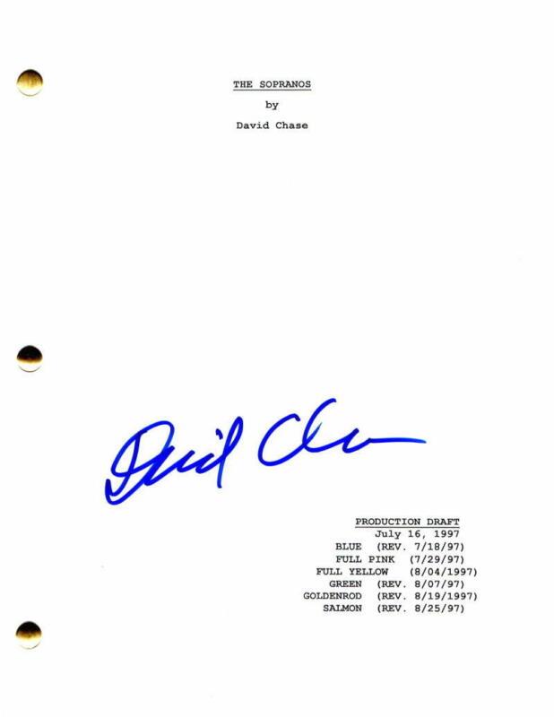 DAVID CHASE SIGNED AUTOGRAPH - THE SOPRANOS FULL PILOT SCRIPT - JAMES GANDOLFINI