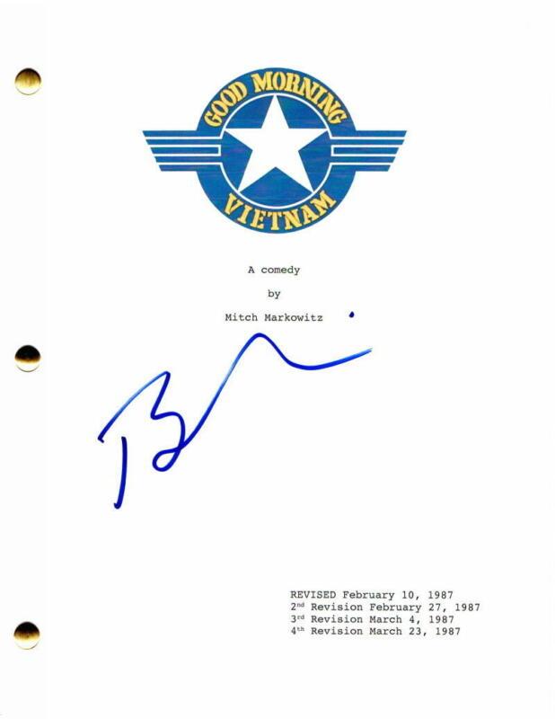 BARRY LEVINSON SIGNED AUTOGRAPH GOOD MORNING VIETNAM MOVIE SCRIPT ROBIN WILLIAMS