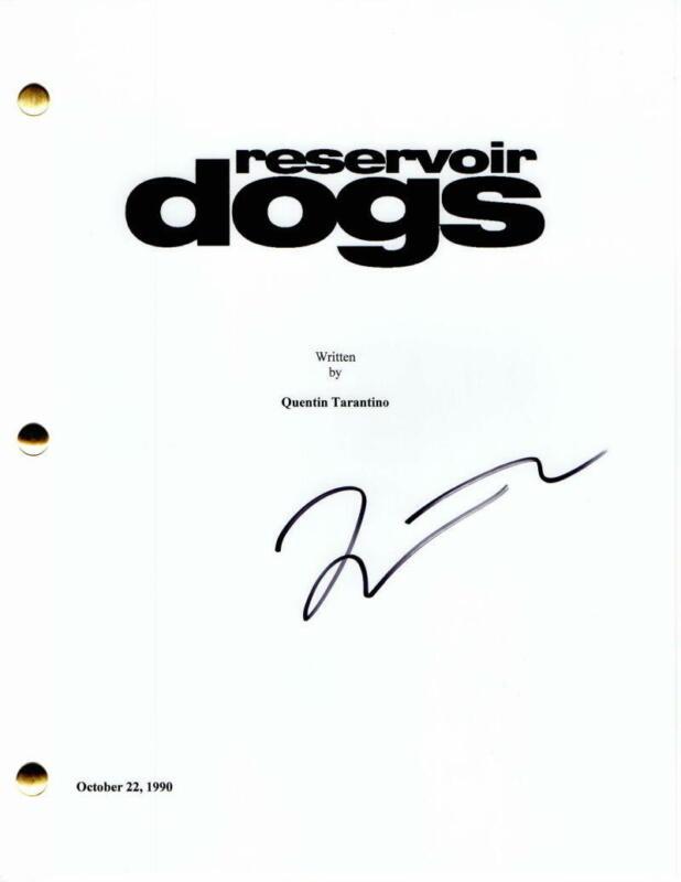 QUENTIN TARANTINO SIGNED AUTOGRAPH - RESERVOIR DOGS FULL MOVIE SCRIPT