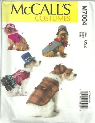 M7004 Dog Costumes Steampunk and Detective MCalls Sewing Pattern