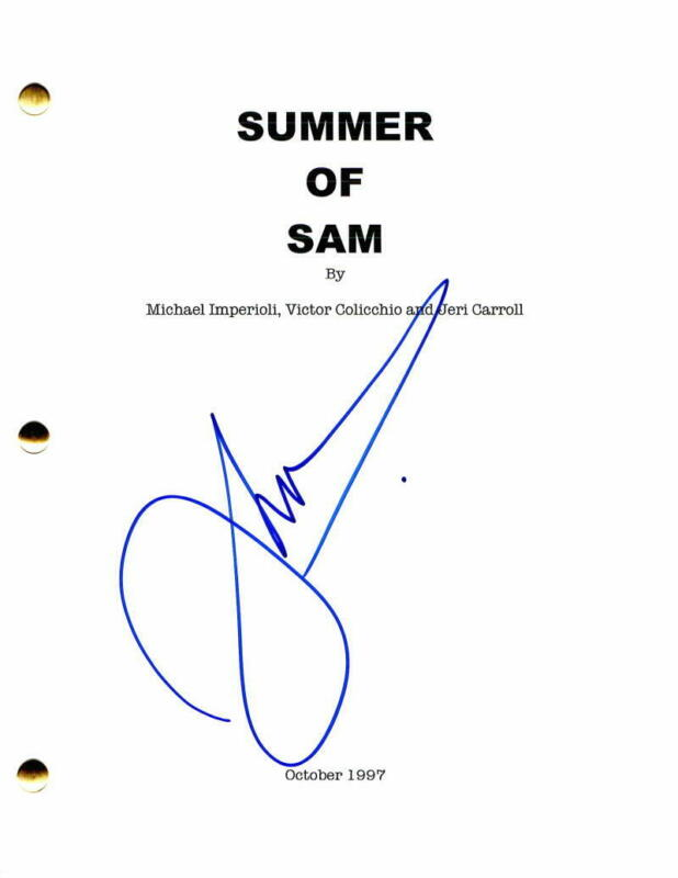 JOHN LEGUIZAMO SIGNED AUTOGRAPH - SUMMER OF SAM MOVIE SCRIPT - CARLITO'S WAY