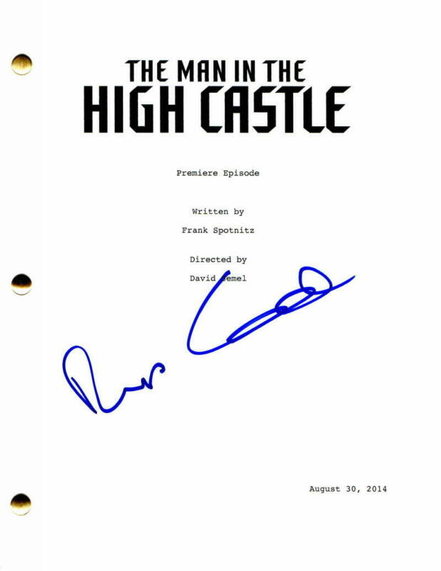 RUFUS SEWELL SIGNED AUTOGRAPH - THE MAN IN THE HIGH CASTLE FULL PILOT SCRIPT