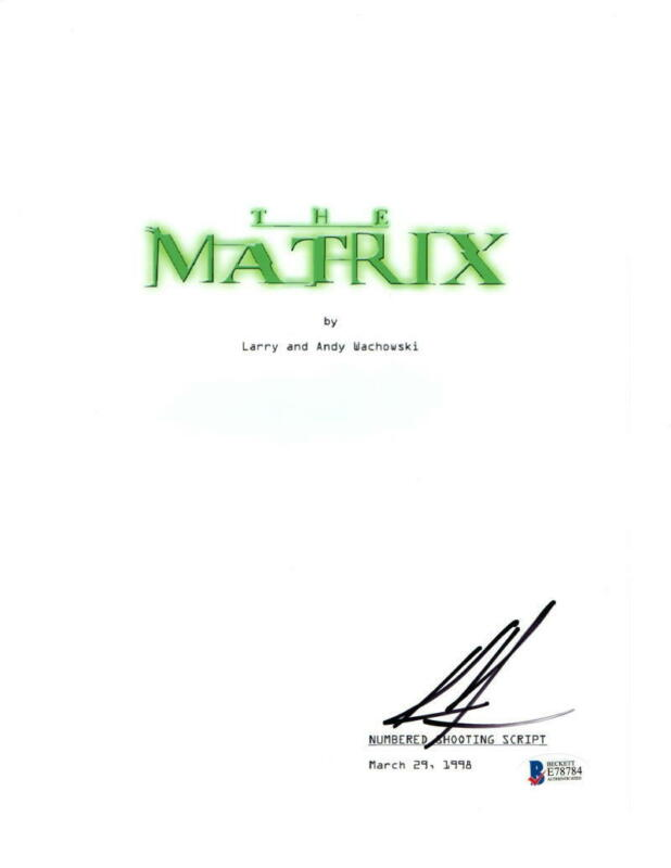 KEANU REEVES SIGNED FULL MATRIX SCRIPT AUTHENTIC AUTOGRAPH BECKETT COA
