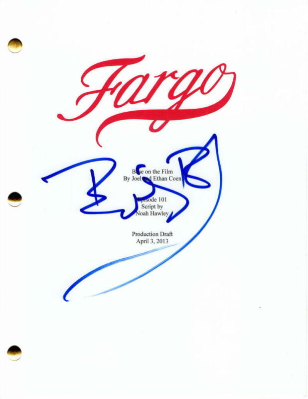 BILLY BOB THORNTON SIGNED AUTOGRAPH - FARGO FULL PILOT SCRIPT - MARTIN FREEMAN