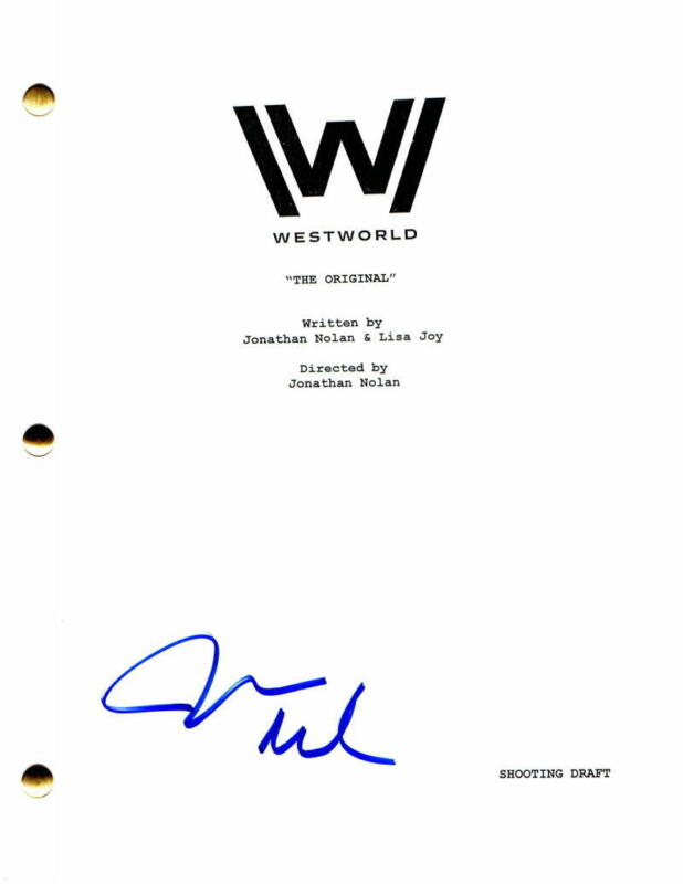 JAMES MARSDEN SIGNED AUTOGRAPH - WESTWORLD FULL PILOT SCRIPT - EVAN RACHEL WOOD