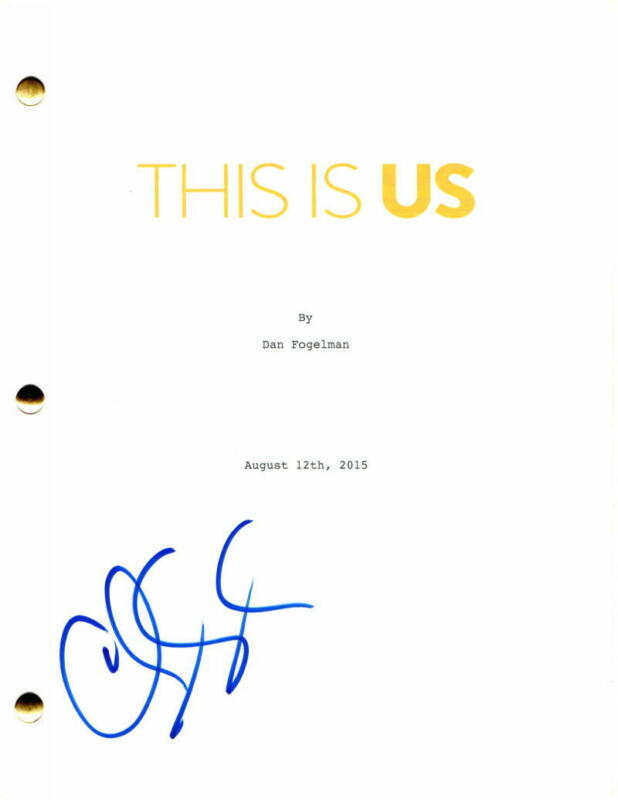 CHRIS SULLIVAN SIGNED AUTOGRAPH THIS IS US FULL PILOT SCRIPT - MANDY MOORE, RARE