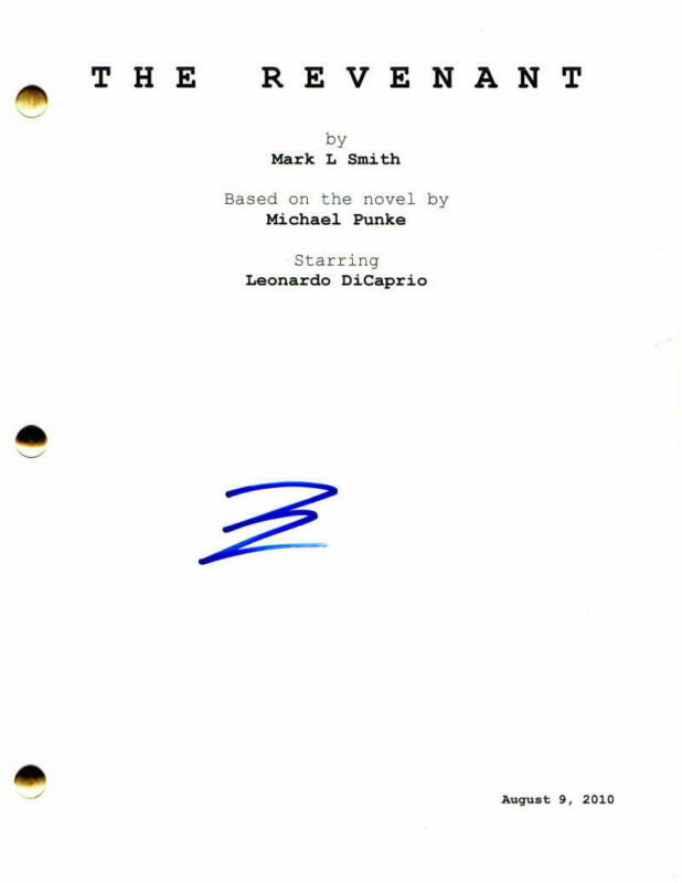 LEONARDO DICAPRIO SIGNED AUTOGRAPH - THE REVENANT MOVIE SCRIPT - LEO, TOM HARDY