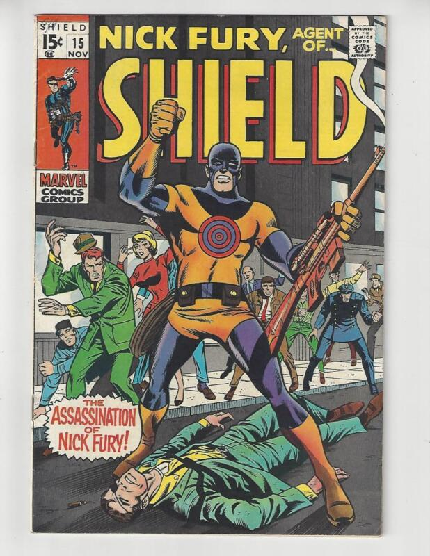 Nick Fury #15/Silver Age Marvel Comic/Bullseye/VF