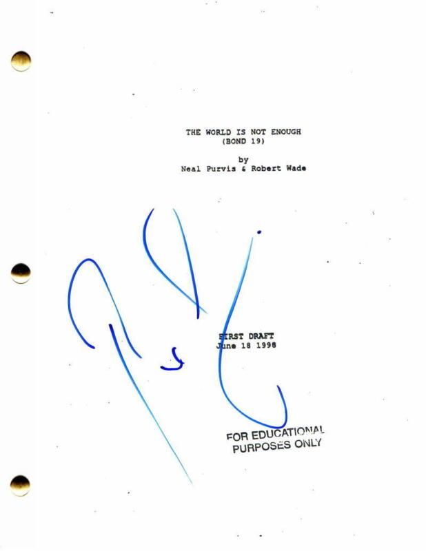 PIERCE BROSNAN SIGNED AUTOGRAPH -JAMES BOND THE WORLD IS NOT ENOUGH MOVIE SCRIPT