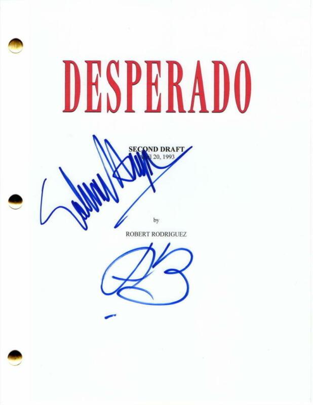 ANTONIO BANDERAS & SALMA HAYEK SIGNED AUTOGRAPH - DESPERADO FULL MOVIE SCRIPT