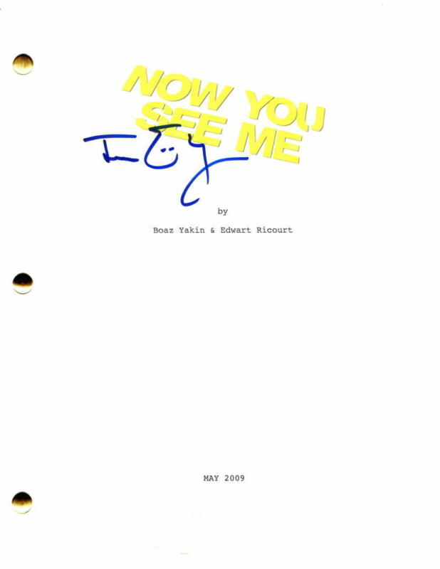 JESSE EISENBERG SIGNED AUTOGRAPH - NOW YOU SEE ME FULL MOVIE SCRIPT - ZOMBIELAND