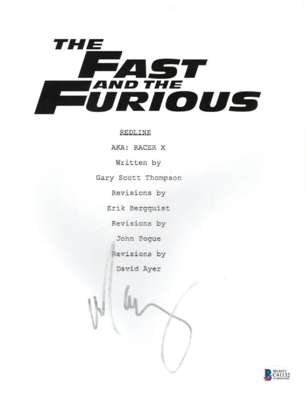 MICHELLE RODRIGUEZ SIGNED FAST AND THE FURIOUS FULL SCRIPT AUTOGRAPH BECKETT COA