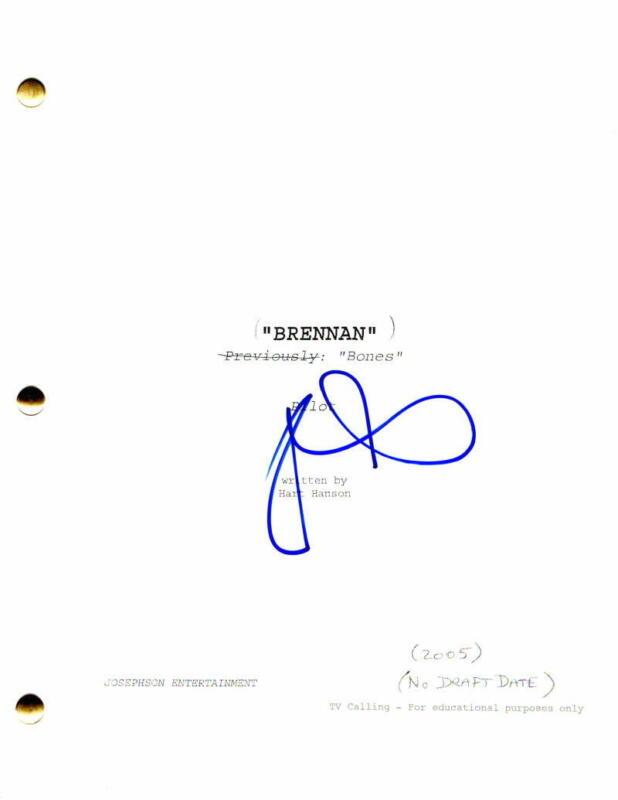 DAVID BOREANAZ SIGNED AUTOGRAPH - BONES PILOT SCRIPT - BUFFY THE VAMPIRE SLAYER