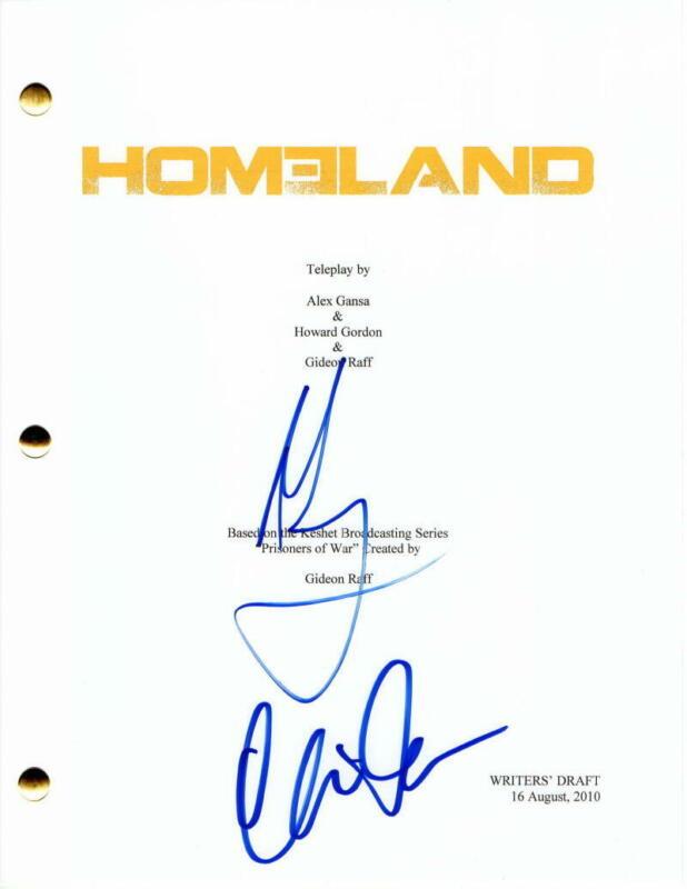 MANDY PATINKIN & CLAIRE DANES CAST SIGNED AUTOGRAPH - HOMELAND FULL PILOT SCRIPT
