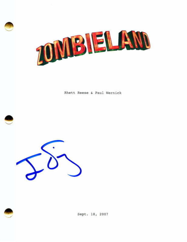 JESSE EISENBERG SIGNED AUTOGRAPH ZOMBIELAND MOVIE SCRIPT - NOW YOU SEE ME STAR
