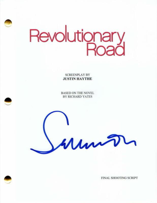 SAM MENDES SIGNED AUTOGRAPH - REVOLUTIONARY ROAD MOVIE SCRIPT -LEONARDO DICAPRIO