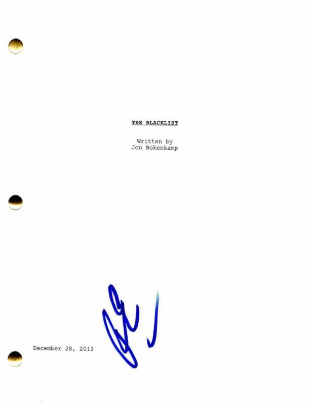 RYAN EGGOLD SIGNED AUTOGRAPH - THE BLACKLIST PILOT SCRIPT - NEW AMSTERDAM STUD