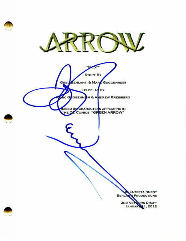 JOHN BARROWMAN SIGNED AUTOGRAPH - ARROW FULL PILOT SCRIPT - STEPHEN AMELL