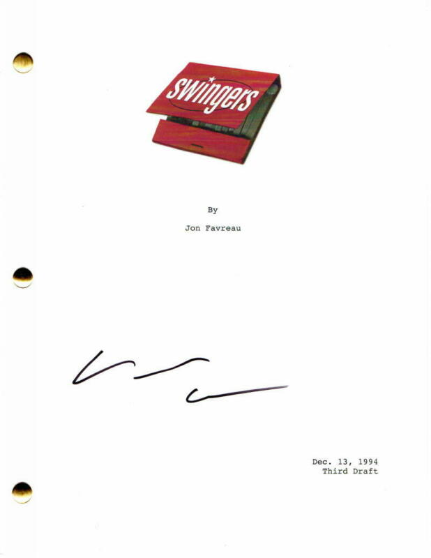VINCE VAUGHN SIGNED AUTOGRAPH - SWINGERS FULL MOVIE SCRIPT - JON FAVREAU