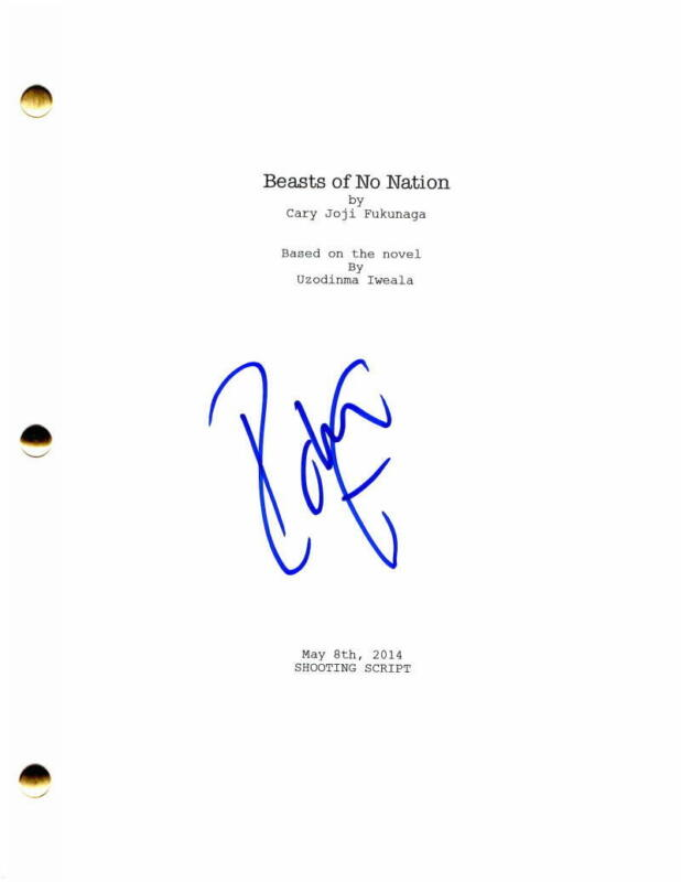 IDRIS ELBA SIGNED AUTOGRAPH - BEASTS OF NO NATION MOVIE SCRIPT HEIMDALL THE WIRE