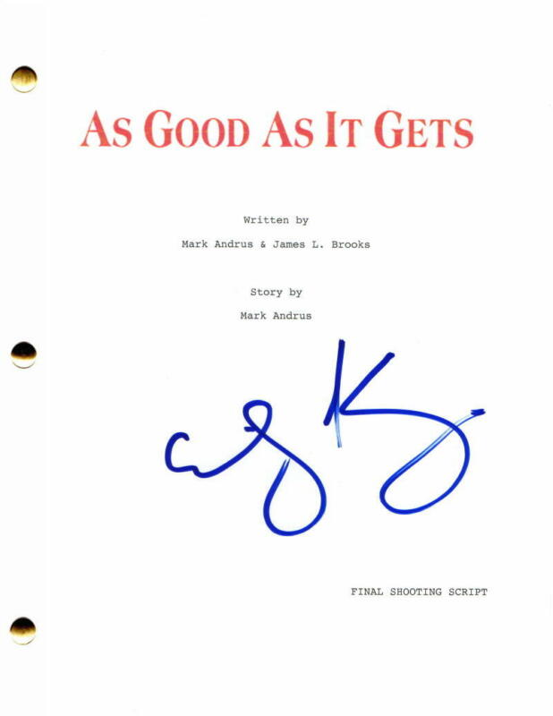 GREG KINNEAR SIGNED AUTOGRAPH AS GOOD AS IT GETS FULL MOVIE SCRIPT - INVINCIBLE