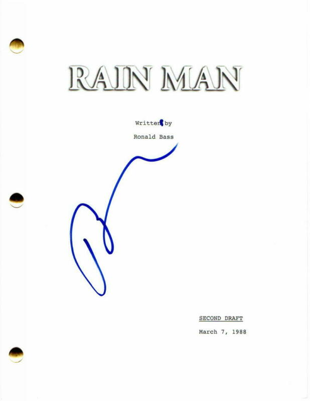 BARRY LEVINSON SIGNED AUTOGRAPH - RAIN MAN FULL MOVIE SCRIPT - TOM CRUISE
