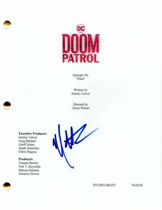 MATT BOMER SIGNED AUTOGRAPH - DOOM PATROL FULL PILOT SCRIPT - NEGATIVE MAN